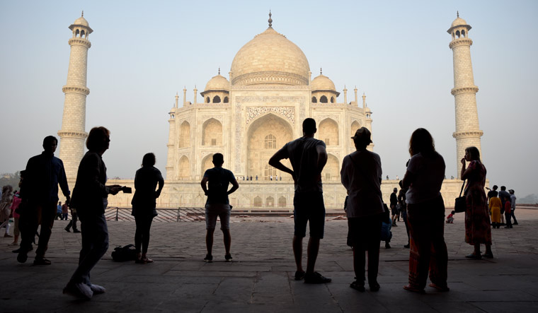 Taj Mahal changing colour due to dirty socks, algae