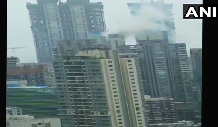A Level Ii Fire Breaks Out In Commercial Premises At Appasaheb Marathe Marg In Worli