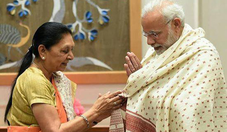 Anandiben Patel with Modi