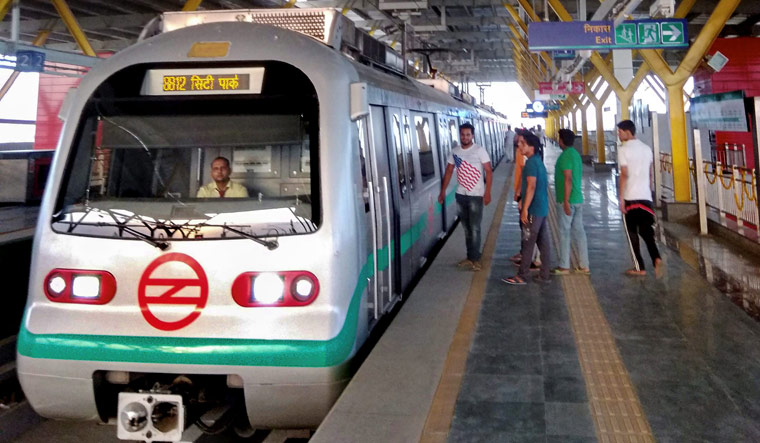 delhi metro pink line flagged off