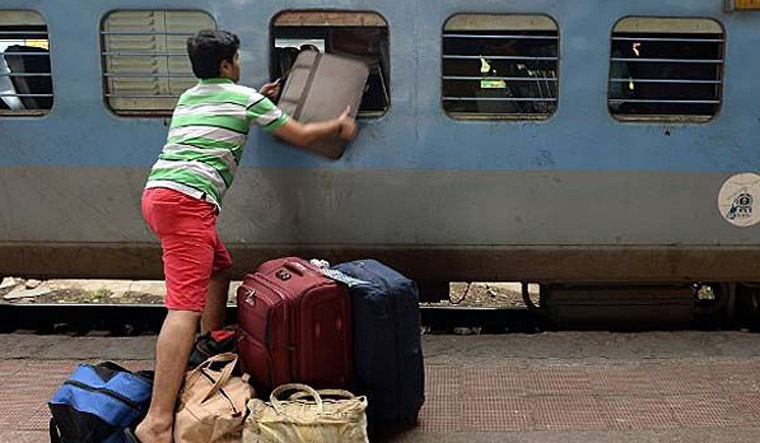 Image result for excess luggage in train