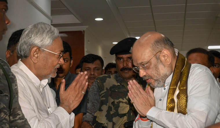 Amit Shah with Nitish