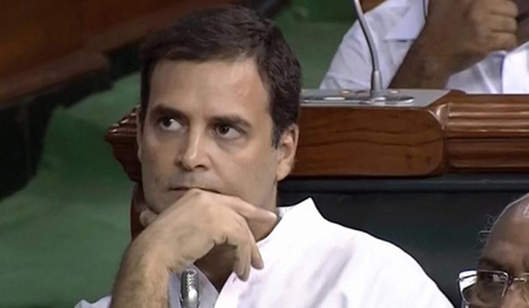 rahul gandhi s hug to pm was childish act rahul gandhi narendra