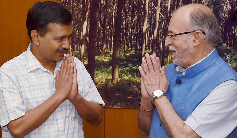 Kejriwal with Baijal