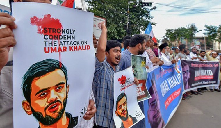 Khalid had allegedly given provocative speeches at two different places and appealed to the citizens to come out on streets and block the roads during the visit of US President Donald Trump, says the FIR