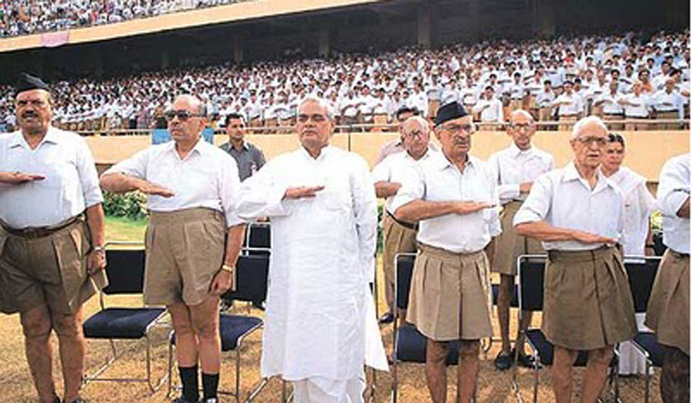 Vajpayee at RSS event