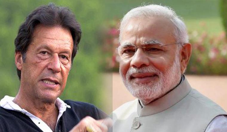 Pakistan Tehreek-i-Insaf chief Imran Khan and Indian Prime Minister Narendra Modi