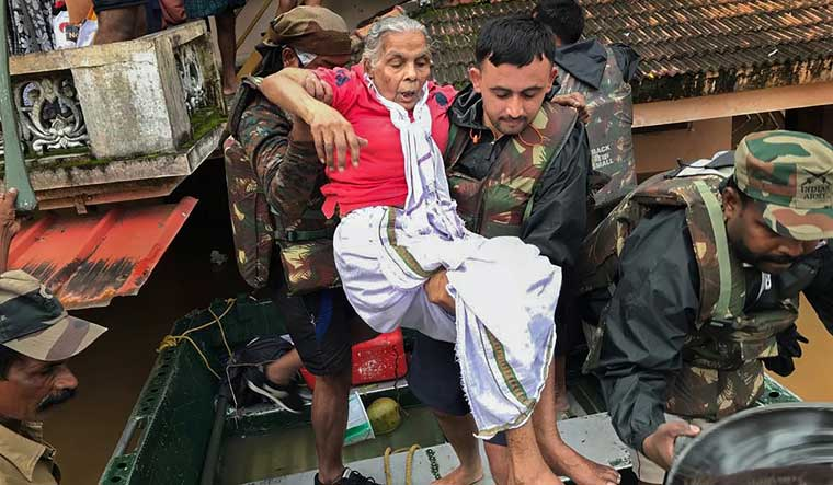 Army personnel rescue flood affected people in Ernakulam | PTI