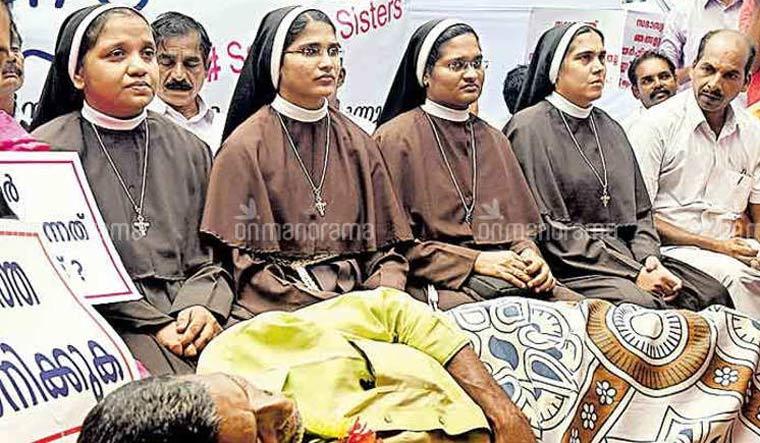 kerala-nuns-protesting