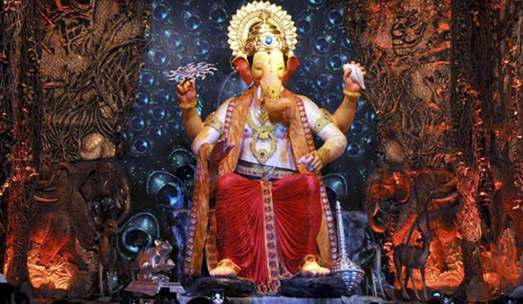 Laddu Weighing 580 Kg Offered To Lord Ganesha In Hyderabad