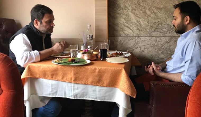 Rahul with Tejashwi