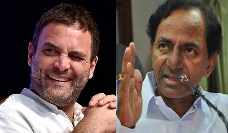 Rahul Gandhi and K. Chandrasekhar Rao