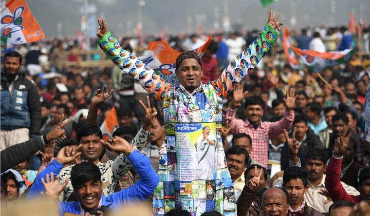 Mamata rally supporter