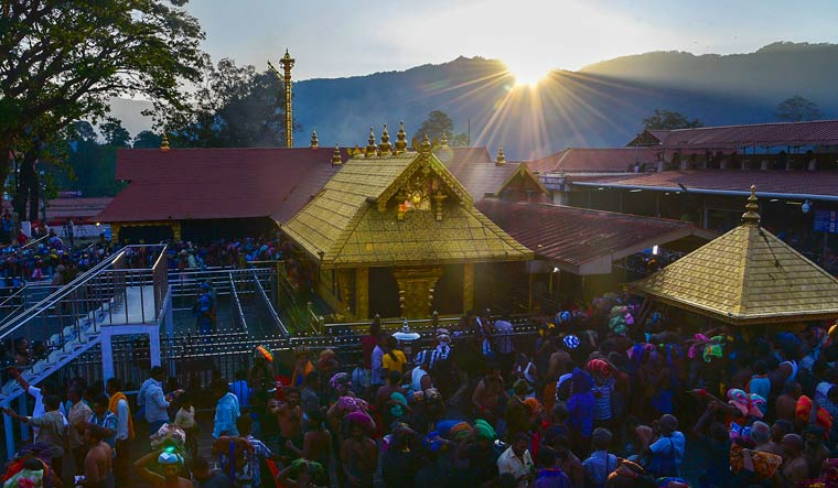 Lord Ayyappa temple in Sabarimala | PTI