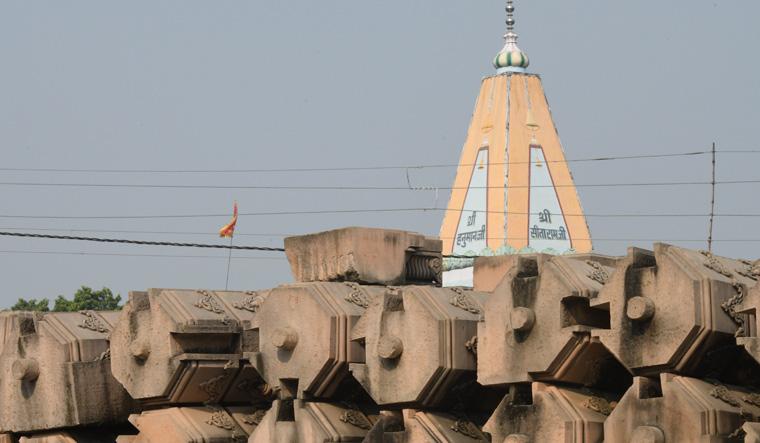 Carved stones for the proposed Ram temple at Karsevakpuram | Sanjoy Ghosh