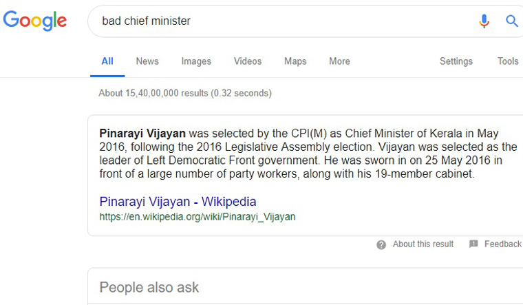 Pinarayi Vijayan is Google's answer to 'bad chief minister' - The Week