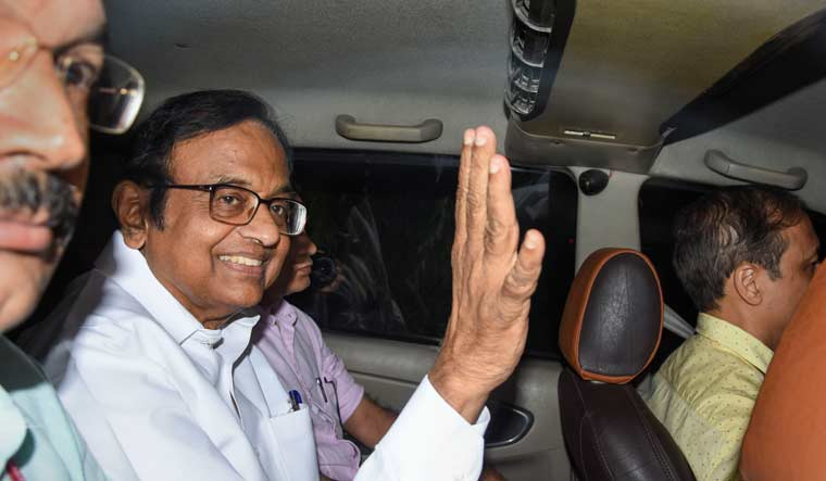 [File] Former finance minister P Chidambaram leaves from a court in New Delhi | PTI