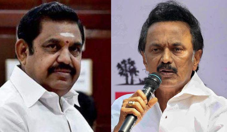 Chief Minister Edappadi K. Palaniswami and DMK chief M.K. Stalin