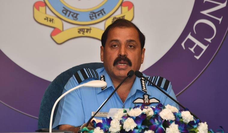 Air Chief Marshal R.K. Bhadauria addressing media in Delhi | Arvind Jain