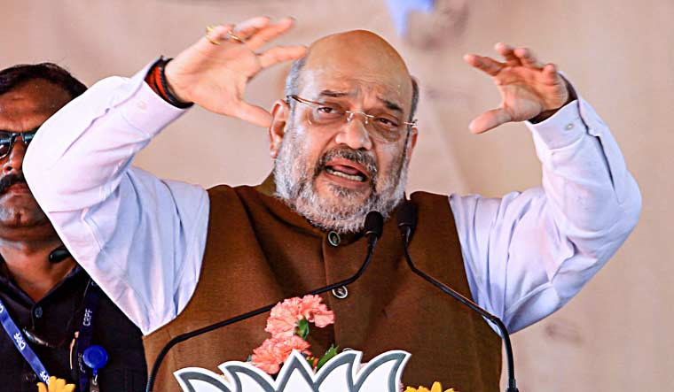 Union Home Minister Amit Shah addresses an election rally in Jharkhand | PTI