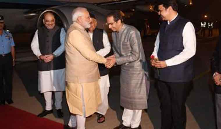 Uddhav Thackeray meets Modi for first time after becoming CM