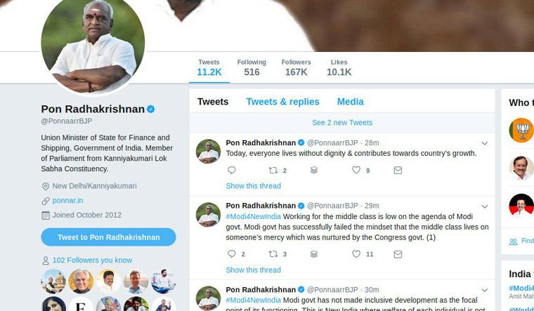 Pon Radhakrishnan tweet