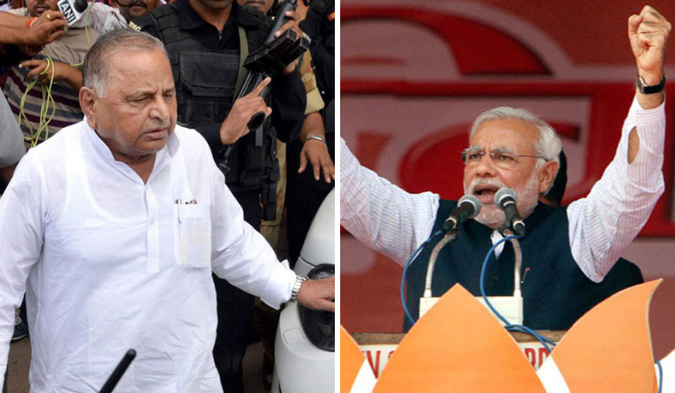 this was not for the first time that Mulayam has shown his penchant for Modi