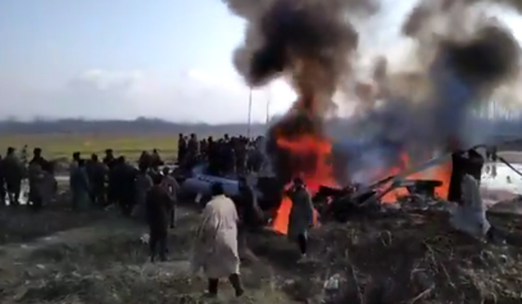 IAF jet crashes in Budgam, 2 bodies found