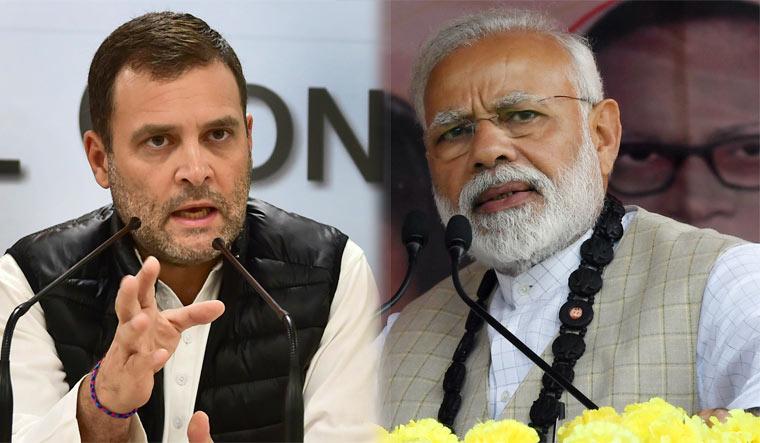 Former Congress president Rahul Gandhi and Prime Minister Narendra Modi | PTI/Salil Bera