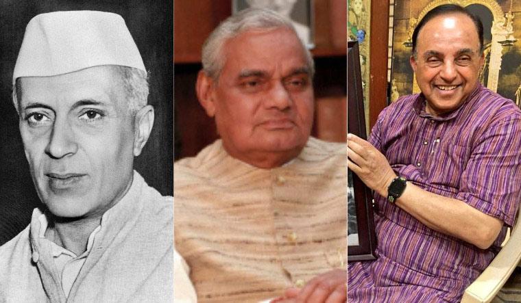 Nehru, Vajpayee, Swamy