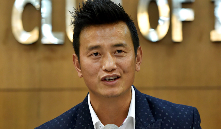 Bhaichung Bhutia puts favourite jerseys on auction for funds to contest in polls