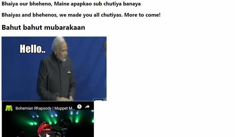 Official website of BJP hacked, taken offline