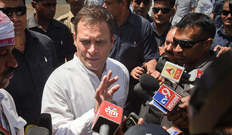 Congress chief Rahul Gandhi also reiterated his challenge to Modi for a debate on corruption | PTI