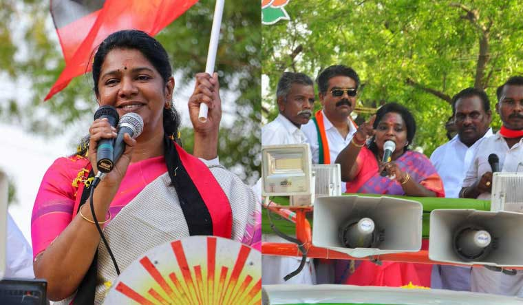 Kanimozhi Tamilisai collage