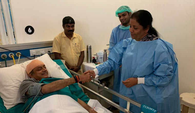 'Touched by gesture', tweets Tharoor after Nirmala Sitharaman visits him in hospital