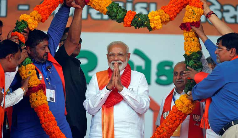 Modi in Gujarat: 'Vote for any BJP candidate is a direct vote for me'