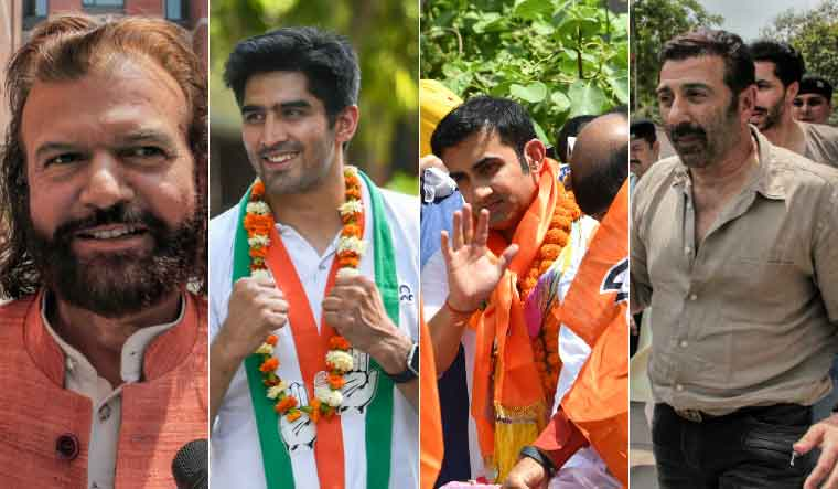 Hans Raj Hans, Vijender Singh, Gautam Gambhir and Sunny Deol