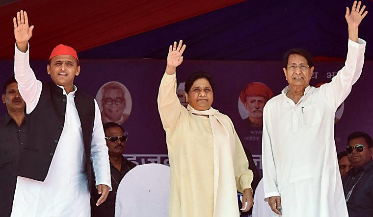 Akhilesh Mayawati Ajit Singh PTI