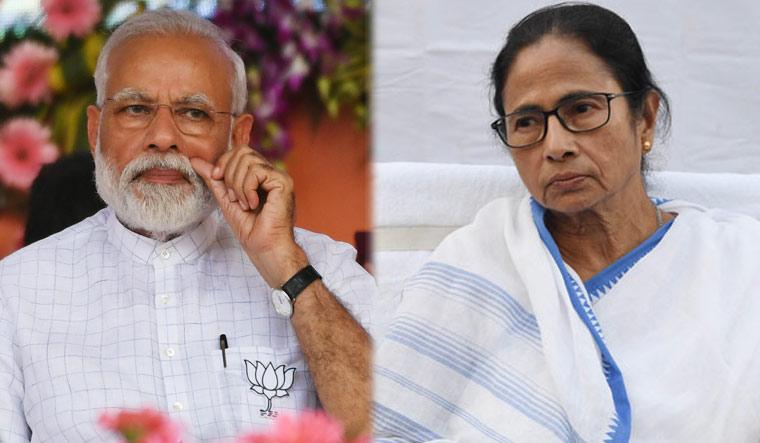 Prime Minister Narendra Modi and West Bengal Chief Minister Mamata Banerjee [Combo pic/Salil Bera]