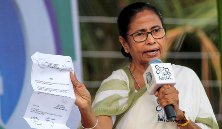 West Bengal Chief Minister and Trinamool Congress supremo Mamata Banerjee addresses an election rally at Dinhata in Cooch Behar   PTI