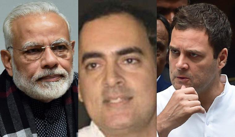 Modi, Rajiv Gandhi and Rahul Gandhi |