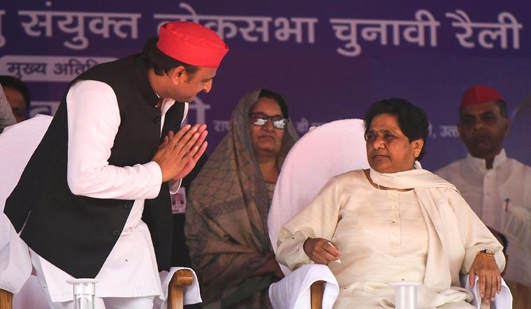 Akhilesh Mayawati Deoband AFP