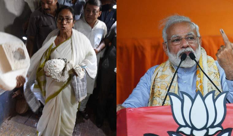 Mamata Modi collage Salil PTI