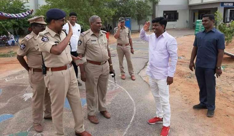 Photo of Andhra inspector-turned-MP saluting former boss goes viral