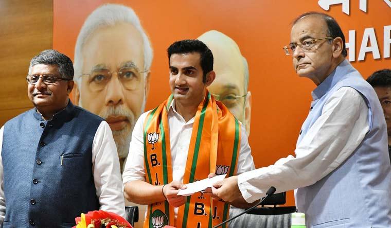 Gautam Gambhir BJP Arun Jaitley Sanjay Ahlawat