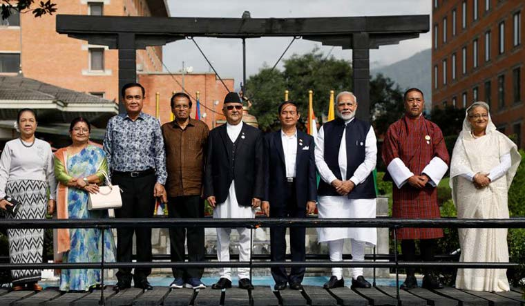 A file photo of Prime Minister Narendra Modi with BIMSTEC leaders | Reuters