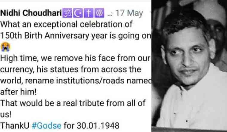 Ias Officer Thanks Gandhi Assassin Godse Invites Wrath The Week