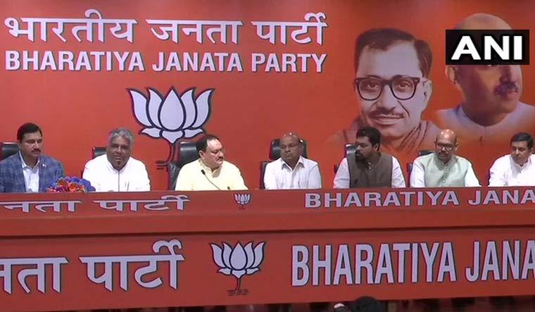 Big blow to TDP as four Rajya Sabha MPs join BJP