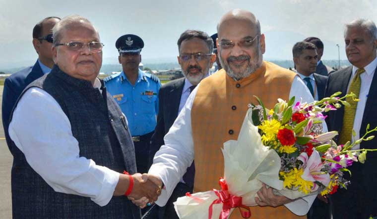 Amit Shah reviews security situation in J&K on his maiden official visit