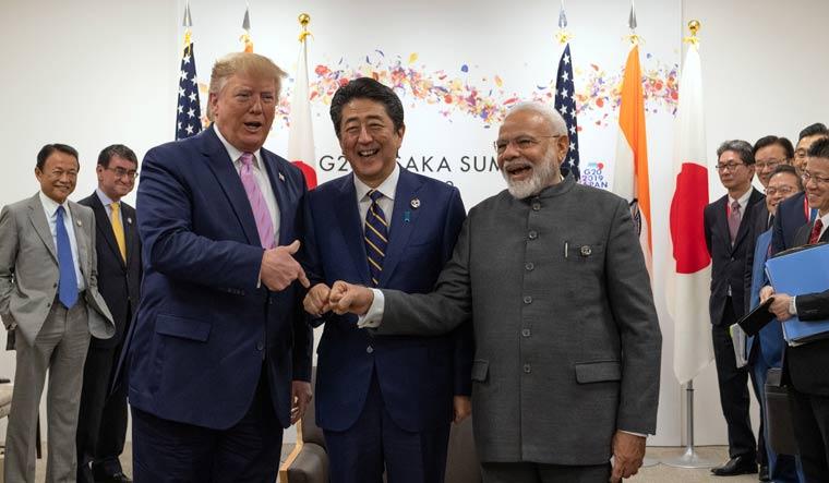 Modi Trump Abe Reuters